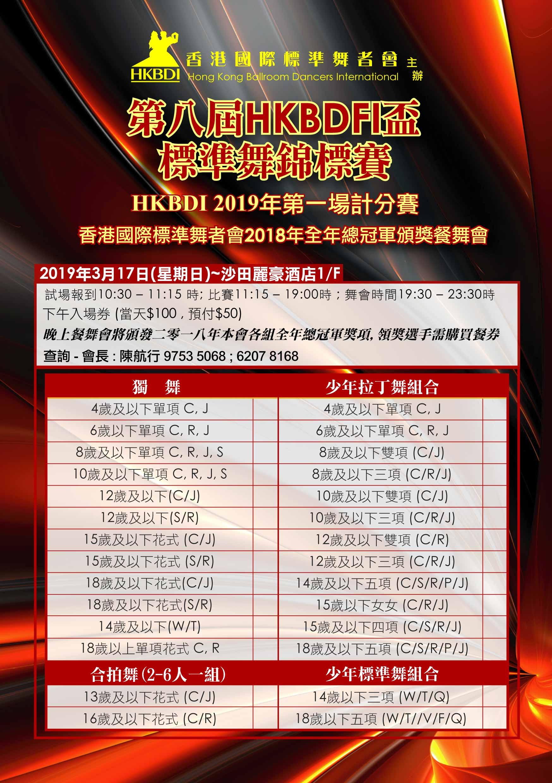 第八屆HKBDFI盃標準舞錦標賽