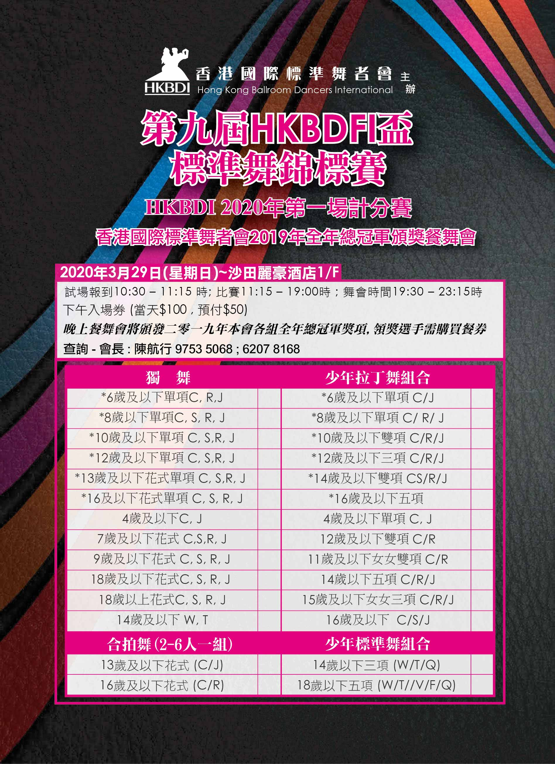 9th HKBDFI Cup Chinese p.1