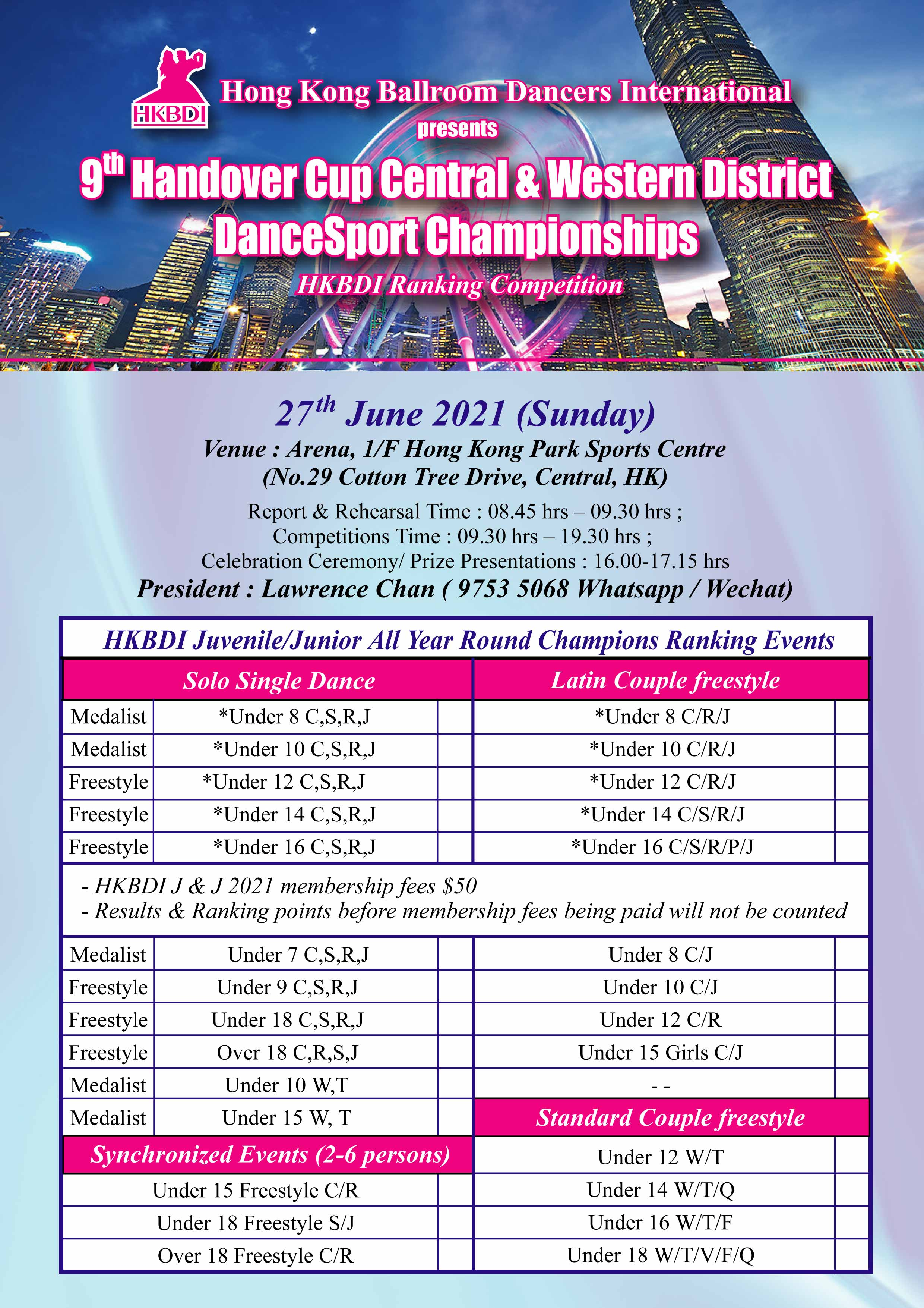 9th Handover Cup Central & Western District DanceSport Championships